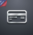 Credit debit card icon symbol 3D style Trendy vector image