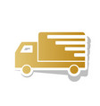 delivery sign golden vector image vector image
