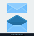 Design of both open and closed envelope in flat vector image vector image