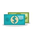 dollar bill isolated icon design vector image vector image