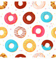 donuts seamless pattern sweet summer print vector image