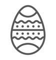 easter egg line icon decor and easter painted vector image vector image