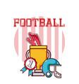 football trophy and helmet vector image vector image