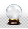 glass empty snow globe vector image vector image