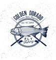 golden dorado fishing logo vector image vector image