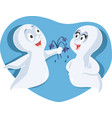 halloween ghost couple vector image vector image