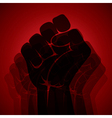 hand show power and unity stock vector image