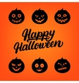 happy halloween hand written lettering card vector image vector image
