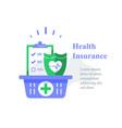 health insurance medical program checklist vector image