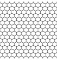 hexagon grid cells seamless pattern vector image vector image