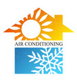home air conditioning cooling symbol vector image vector image
