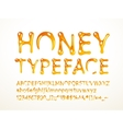 honey typeface vector image vector image