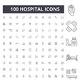 hospital line icons signs set outline vector image vector image