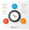 instrument icons set collection of cop cap vector image vector image