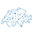 isolated map of switzerland vector image vector image