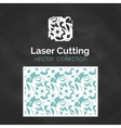 Laser Cut Card Template For Laser Cutting Cutout vector image vector image
