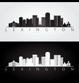 lexington usa skyline and landmarks silhouette vector image vector image