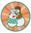 love snowmen vector image
