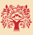 Love tree red color vector