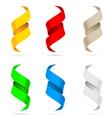 many beautiful colored ribbons vector image vector image