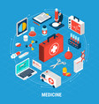 medicine isometric concept vector image vector image