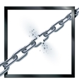 Metal broken chain vector image