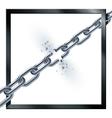 Metal broken chain vector image vector image