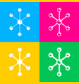 molecule sign four styles of icon on vector image vector image
