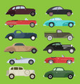old vintage retro old style car vehicle vector image