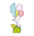 party balloons helium with bush garden vector image vector image
