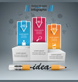 pencil education idea icon business infographic vector image vector image