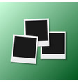 photo frame realistic snapshot modern photo vector image