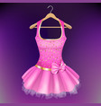 pink dress on hanger vector image vector image
