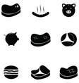pork icon set vector image vector image