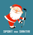 santa claus playing sports games vector image
