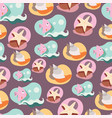 seamless background pattern with lovely cartoon vector image