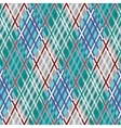 Seamless tartan pattern Diagonal Blue palette vector image vector image