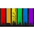 Set of 6 colorful rainbow brush stroke elements fo vector image