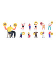 set people express different emotions male and vector image vector image