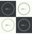set round banners vector image vector image
