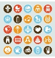 set stickers with kids and toys vector image