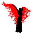 silhouette of flamenco dancer vector image vector image
