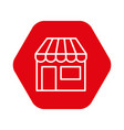 store building isolated icon vector image