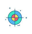 target icon design vector image