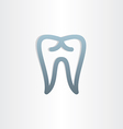 tooth icon dental design vector image