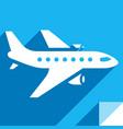 transport in sky vector image vector image