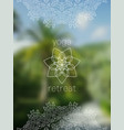 tropical yoga retreat banner with mandala vector image vector image