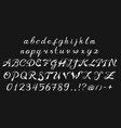 vintage font handwritten alphabet sign painter vector image vector image