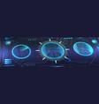 Virtual dashboard hud in isometric
