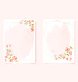 watercolor pink bougainvillea with golden frame vector image vector image